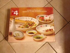 BRAND NEW IN BOX - Pasta For 4 - Pasta Dish Set