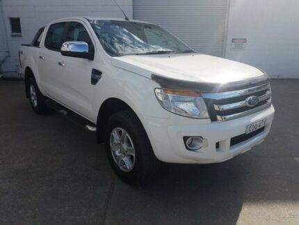 2013 Ford Ranger PX XLT Double Cab White 6 Speed Manual Utility Wodonga Wodonga Area Preview