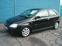 Vauxhall Corsa SXi 1.7CDti DIESEL 03reg Black, Exc Cond throughout, FSH, Recent Cambelt & Tensioner