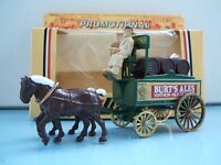 Lledo Promo Models LP31 Horse Drawn Brewers Dray Burts Brewery Ales, Ventnor, black & brown versions