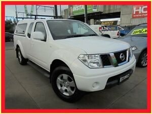 2011 Nissan Navara D40 MY11 ST-X White 6 Speed Manual 4D Utility Holroyd Parramatta Area Preview