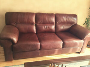 Sofa et causeuse en cuir - Couche & Love seat in Italian leather