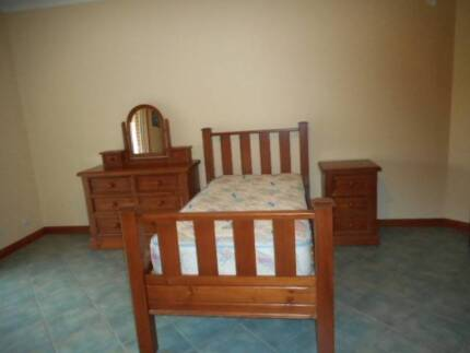 Recycled Oregon Timber Single Bedroom Set Austral Liverpool Area Preview