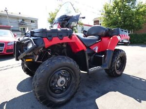 2013 POLARIS SPORTSMAN 550 (AUTOMATIQUE, 4X4, 5100 KM, WOW!!!)