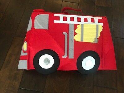 Pottery Barn Kids 3D FIRETRUCK FIRE ENGINE Toddler Halloween Costume SIZE 3T