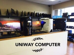 Uniway Edmonton Customize Desktop Tower Core2, i3, i5, i7on sal