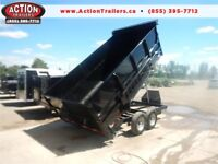 ULTIMATE DUMP TRAILER WITH HIGH SIDES - MOBILE BIN - 14' LONG London Ontario Preview