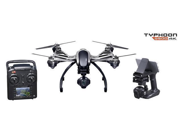 Yuneec Typhoon Q500 4K Quadcopter w/ 4K 3-Axis Gimbal Camera, Steady Grip, ST10+