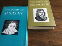 Literature/Poetry complete works of Shelley and Coleridge