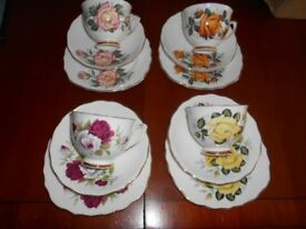 Tea Set Roses Colclough Bone China 12 Piece - Vintage Party?