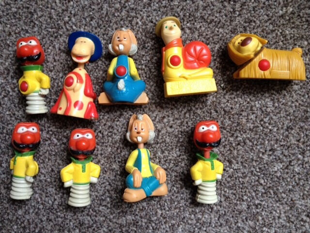 9 x Magic Roundabout collectors toys