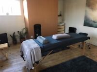 treatment room in wellbeing centre in Norwich Lanes £25 half day/£45 full day