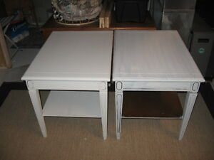 2 matching vintage wooden endtables - need to go today