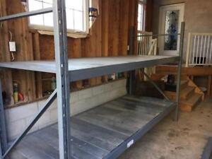 Heavy duty shelving with galvanized shelves
