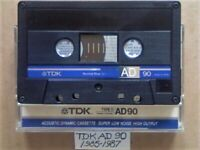 TDK AD 90 ACCOUSTIC DYNAMIC CASSETTE TAPES 1985-1987 JOB LOT OR SOLO AD90