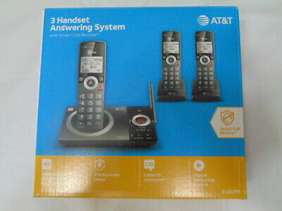 AT&T CL82319 (3) Handset Cordless Telephone with Smart Call Block - NEW SEALED!