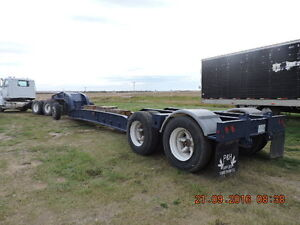 BRENTWOOD RAIL LOWBED WITH S/A JEEP AND BOOSTER Moose Jaw Regina Area image 2