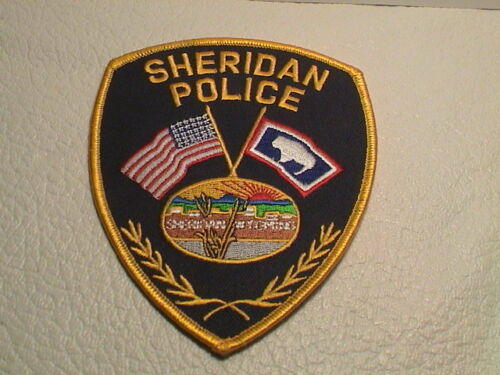 SHERIDAN WYOMING POLICE OFFICER COP PATROL TROOPER LAW ENFORCEMENT PATCH NEW