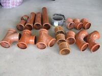 Undeground drainage fittings 110mm