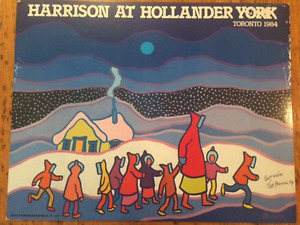 Signed Ted Harrison poster dated 1984 - collectible Canadian art