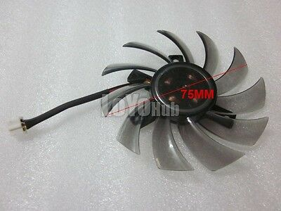 Купить For EVERFLOW Gigabyte T128010SU graphics card cooling fan DC 12V 0.35A 3-Pin