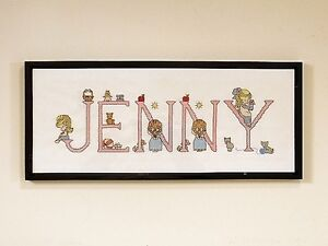 Hand Crafted Framed Needlepoint Cross Stitch - Jenny - $50 (Oakr