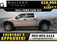 2011 FORD F-150 XLT CREW  *EVERYONE APPROVED* $0 DOWN $169/BW!