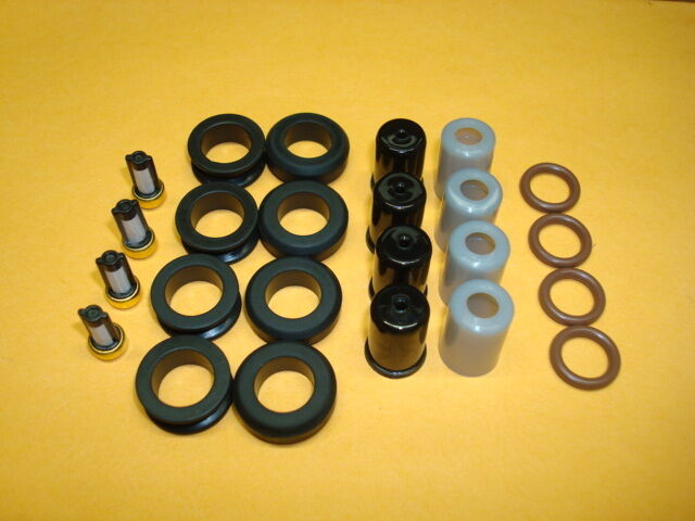 Fits: Toyota 4Runner 22RE Fuel Injector O-ring Seal Filter Pintle Cap Kit