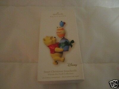 Disney 2007 Hallmark Keepsake Ornament Winnie Pooh Sweet Christmas Smackerels