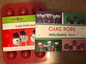 Nordic Ware Cake Pop Pan and Book BRAND NEW