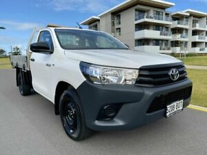 2017 Toyota Hilux TGN121R Workmate 4x2 White 5 Speed Manual Cab Chassis Somerton Park Holdfast Bay Preview