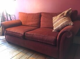 Lovely Marks & Spencer Chenille 2-Piece Sofa Suite in Very Good Condition