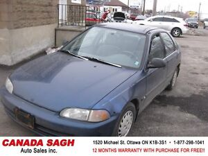 1993 HONDA CIVIC AUTO, ALL PWR ! AS IS $490(NO E TEST NEEDED)