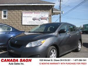 2011 Toyota Matrix 5SP/AC/ALL PWR, 12M.WRTY+SAFETY $7490