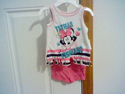 BRAND NEW INFANT GIRL'S SIZE 0-3 MONTH DISNEY MINNIE MOUSE 2 PIECE OUTFIT