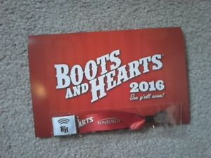 Boots & Hearts Wristband