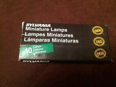 New In Box Sylvania 755 Oem Miniature 10 Unopened In Plastic Bag Lampsbulbs