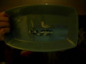 Nautical &  Nature Themed Pottery Serving/Display Plate