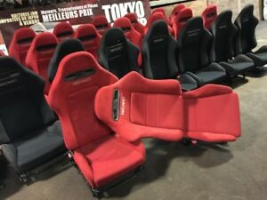 RECARO ACURA RSX DC5 JDM RED AND BLACK OEM CLEAN SEATS PAIR 2002