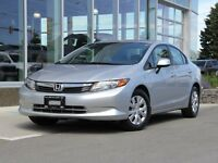 2012 Honda Civic Certified | Eco | Low KM | Fuel Saver