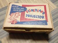 Vintage Disneyland Toy Projector with Film Strips