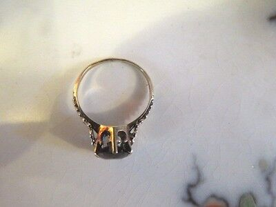 Antique Georgian 10K GOLD and GARNET Ring ESTATE size 5 3/4