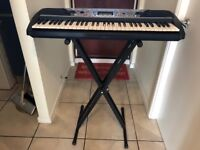 Yamaha PSR 280 keyboard with 12 volt charger and stand, absolute bargain, £30