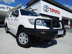 2012 Toyota Hilux KUN26R MY12 SR (4x4) White 4 Speed Automatic Dual Cab Pick-up Greenway Tuggeranong Preview