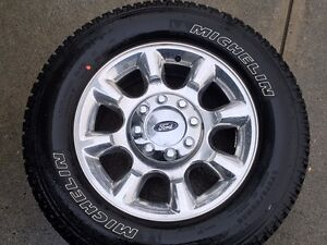 Stock Tires & Rims from a Ford F350