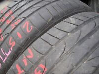 215/45/17 Bridgestone Potenza RE050, Mercedes x2 A Pair, 4.9mm (454 Barking Rd, Plaistow E13 8HJ)