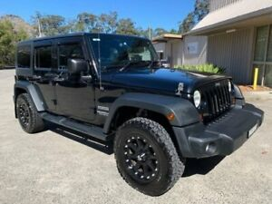 2013 Jeep Wrangler Unlimited JK MY13 Sport (4x4) Black 6 Speed Manual Softtop Lisarow Gosford Area Preview