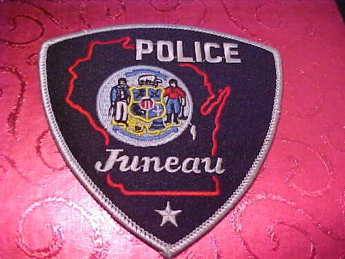 JUNEAU WISCONSIN POLICE PATCH SHOULDER SIZE UNUSED