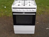 NEW GRADED AMICA 608GG5MSW 60 CM, LPG ONLY GAS COOKER WITH FSD IN WHITE RRP £349 (ABSOLUTE BARGAIN)