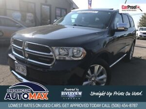 2013 Dodge Durango Crew Plus AWD! Leather! Sunroof! DVD!